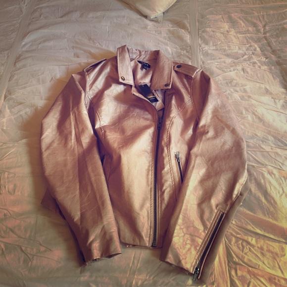 ff8c34d4486 NWT torrid size 1 rose gold moto jacket